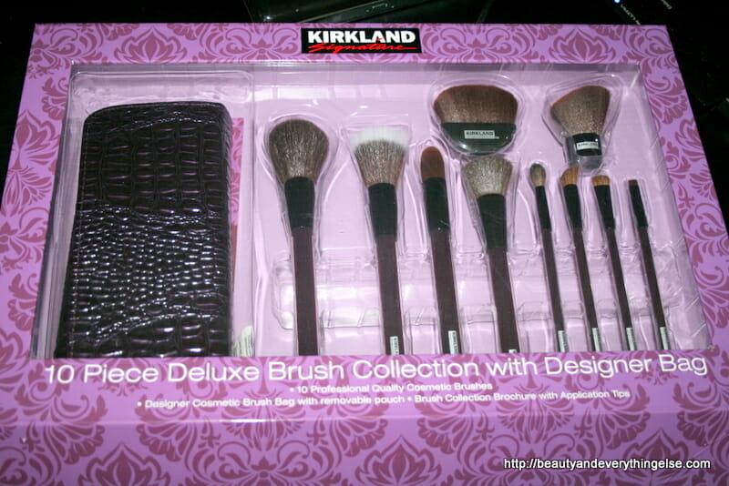 Kirkland signature 10 peice brush collection with Designer bag