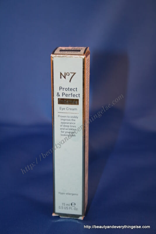 No7 protect and perfect intense eye cream