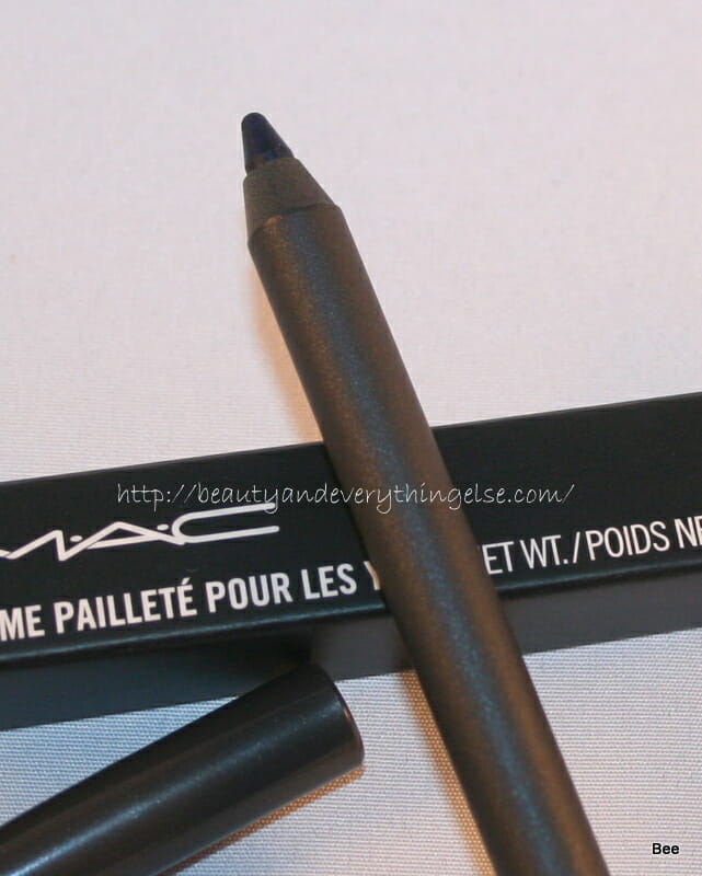 MAC PearlGlide Intense Eyeliner Petrol Blue review