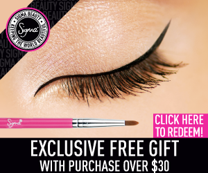 WB Free Gift E05brush 300x250 Sigma Offers a New FREE Gift with Purchases Over $30   An Eyeliner Brush!
