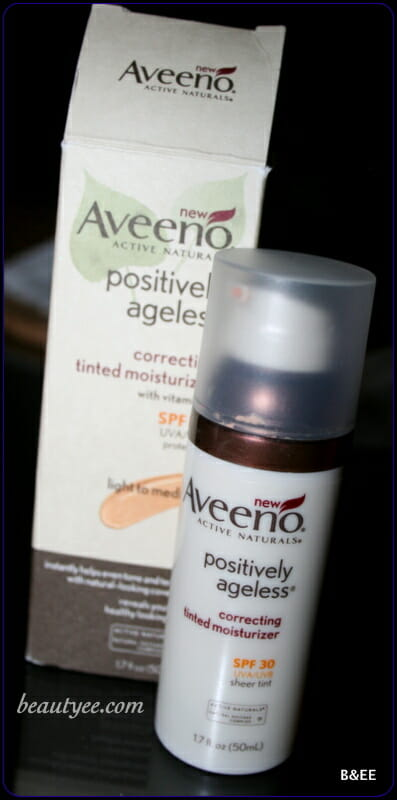 IMG 4173 Review: Aveeno Positively Ageless Correcting Tinted Moisturizer.