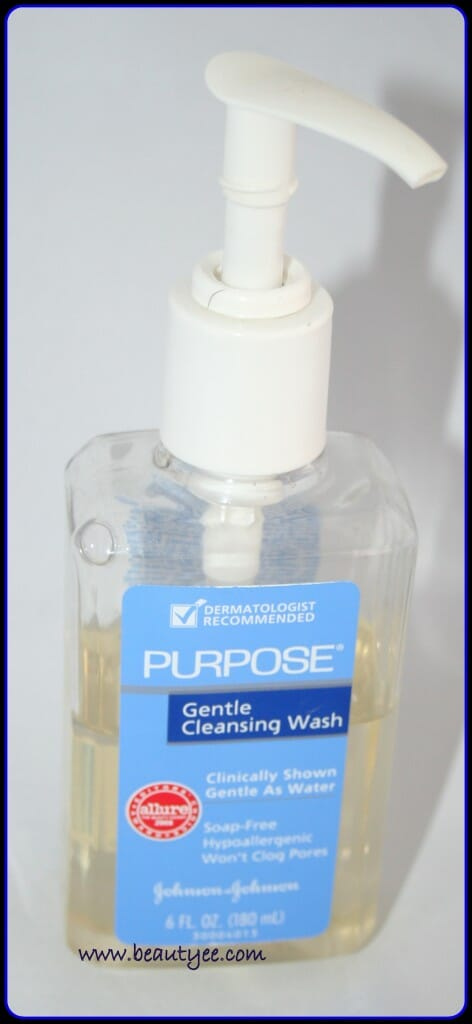 Purpose Gentle Cleansing Wash Review.