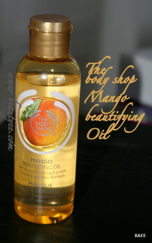 The Body Shop Mango Beautifying Oil review.