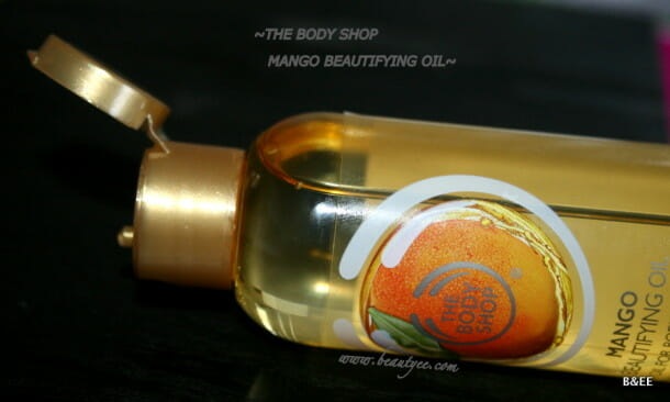 The Body Shop Mango Beautifying Oil review.The Body Shop Mango Beautifying Oil review.