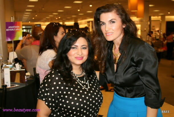 Anastasia brow bar  with the beautiful Nina. Loved her powder blue skirt!
