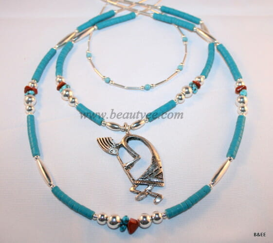 American tribal turquoise necklace