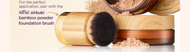 PFLaunch Body Brush 610x169 Tarte New airbrush powder foundation = complexion perfection!