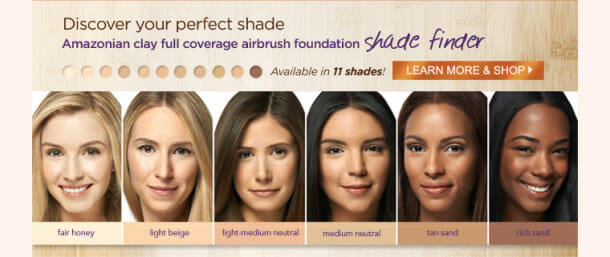 PFLaunch Body shade finder 610x257 Tarte New airbrush powder foundation = complexion perfection!