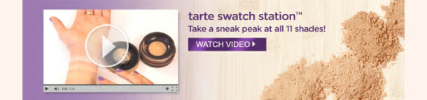 PFlaunch Video 610x144 Tarte New airbrush powder foundation = complexion perfection!
