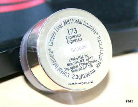 L'Oréal's New gel Liner 24H in Espresso
