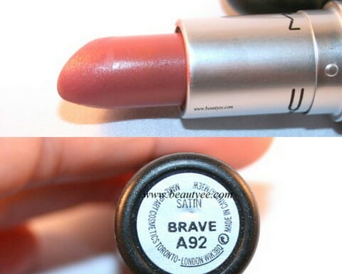 august2013 MAC Satin finish Lipstick in Brave Review, Swatches!