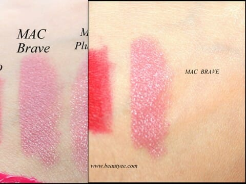 august20131 MAC Satin finish Lipstick in Brave Review, Swatches!