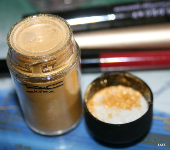 MAC lemon gold pigment