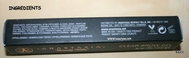 IMG 8431 610x189 ANASTASIA Beverly Hills Clear Brow Gel review.