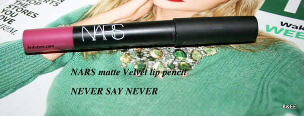 NARS Never Say Never Velvet Matte Lip Pencil Review