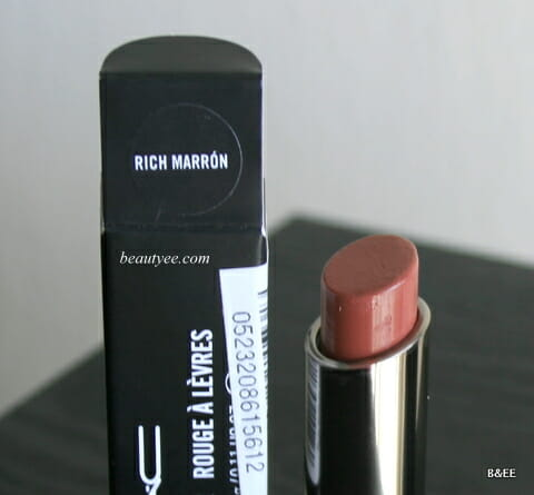 IMG 0803 MAC Huggable Lipcolour Rich Marron Review & Swatches!