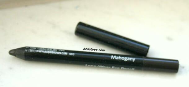 IMG 1143 610x281 Bobbi Brown Long Wear Eye Pencil Mahogany review
