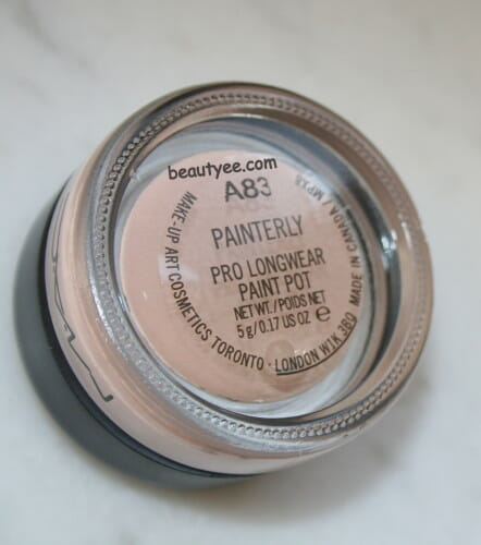 MAC Pro Longwear Paint Pot in Painterly review